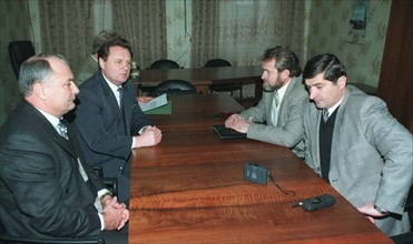 Russian federation, grozny, december 6, 1997, the russian and chechen delegations met in grozny to in a bid to work out a comprehensive treaty between moscow and grozny