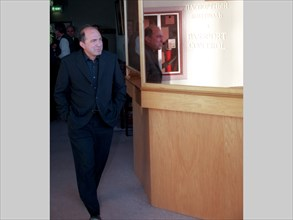 Moscow, russia, april 18, 1999, russian oil-to-media tycoon boris berezovsky and seen pictured on his arrival in moscow from nice