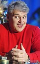 Tv presenter, athlete vladimir turchinsky marks his birthday in the slava night entertainment center, december 5, 2005.