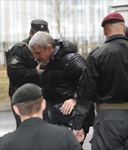 Moscow, russia, march 31, 2009, former menatep head platon lebedev escorted to khamovniki district court on the charges of stealing 892bn rubles ($ 26bn) worth of oil produced by yukos daughter compan...