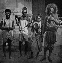 Historical Geography. 1900. India. Ash-smeared fakirs who flourish on village credulity