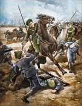 Cossacks rout Germans 1916
