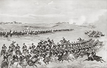 Prussian and Austrian cavalry at The Battle of Königgrätz