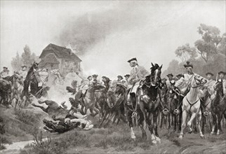 Charge of the Austrian dragoons at the Battle of Kolin