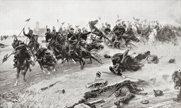 Cavalry charge at The Battle of Novara aka Battle of Bicocca