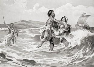 A raid of Illyrian pirates
