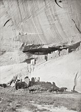 The ruins of the cliff dwellings of the Navajo people at the Canyon de Chelly