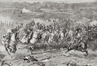 A charge of French Cuirassiers during the Franco-Prussian War of 1870