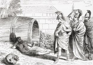 The alleged meeting between Diogenes