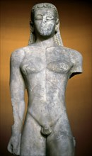 Sounion Kouros, Early archaic Greek statue of a naked young man