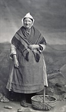 Fishwife from Aberdeen with basket
