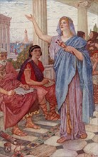 Synesius attends the lectures of Hypatia