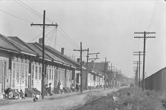 New Orleans Negro street. Louisiana
