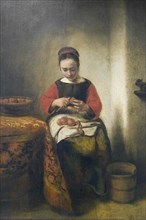 Young Girl Peeling Apples