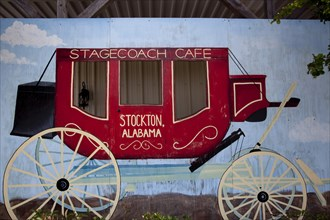 Historic Stagecoach Cafe sign