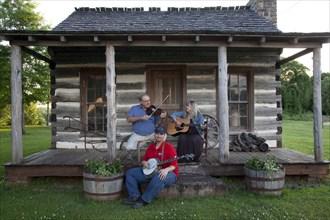 Banjo, Violin & Guitar Players