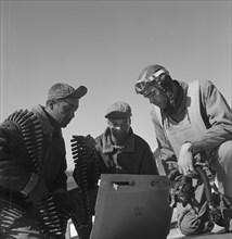 Tuskegee airmen Roscoe C. Brown, Marcellus G. Smith, and Benjamin O. Davis, Ramitelli, Italy, March 1945