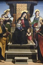 Madonna and Child Enthroned with Saints, altarpiece