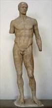 Agias Olimpic athlete statue.