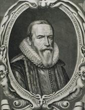 Johan van Oldenbarnevelt (1547-1619). Dutch statesman. Portrait. Engraving.