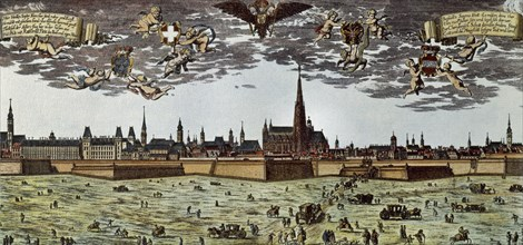 Panorama of the city in the 17th century.