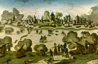 Siege of Lille by the Austrian troops.