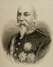 Manuel Macias y Boiguez (1827-1886). Spanish military and political. Engraving. 19th century.