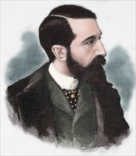 Claudio Lopez Bru, second Marquis of Comillas (1853-1925). Engraving. Colored.