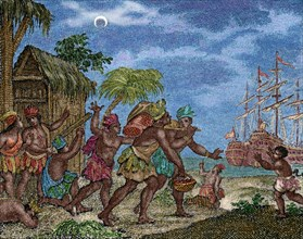 Discovery of America. Second Voyage of Columbus.