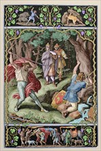 Siegfried killed by Hagen while hunting.