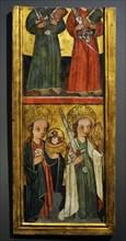 Saint Peter, Saint Paul, Saint Dorothy and Saint Catherine.