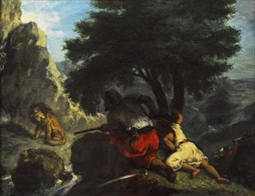 Lion Hunt in Morocco.