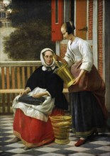 Woman and Maidservant with a Pail.
