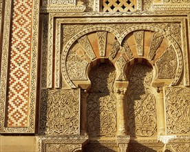 Spain. Andalusia. Great Mosque of Cordoba. 8th C. Moorish architecture. Exterior arches of the east wall.