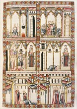 Canticles of Holy Mary. Codice of El Escorial. Written in Galician-Portuguese. Reign of Alfonso X. 13th century Miniature. Christian castle siege.