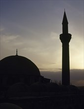 Syria. Aleppo. Mosque. Sunset. photo before Syrian Civil War