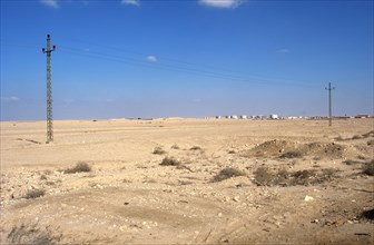 Desert landscape between Suez and Cairo.