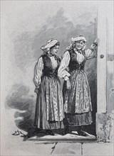 women in traditional albanian dress