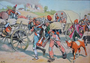 French Revolution soldiers rob and plunder in the Palatinate