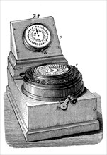 a needle telegraph produced by Charles Wheatstone  /  ein Zeigertelegraf von Charles Wheatstone