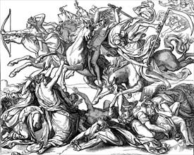 Four Horsemen of the Apocalypse by Peter von Cornelius  /  Vier apokalyptische Reiter von Peter von Cornelius
