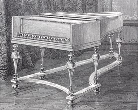 a piano made by the company Silbermann