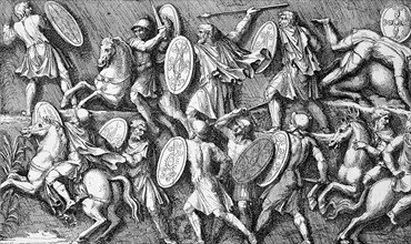 Battle between Romans and Marcomanni