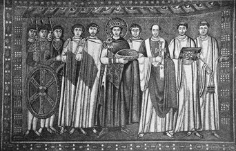 Emperor Justinian with his retinue