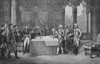 Signing of the peace treaties
