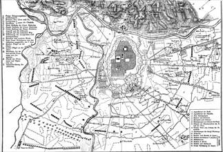 Plan of siege. War of Spanish Succession