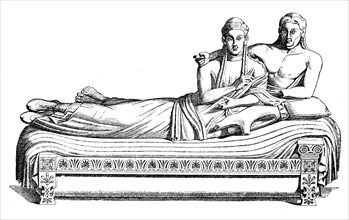 Etruscan clay sarcophagus from Cäre