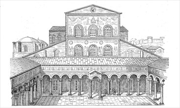 The ancient Basilica of Saint Peter according to its presumed original form