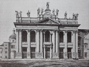 The facade of the Lateran Palace