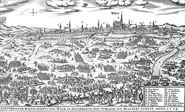 The Siege of Vienna by the Turks under Soliman in 1529